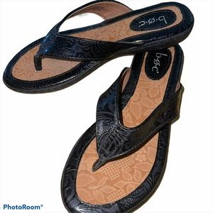 BOC Born Black Leather Sandals